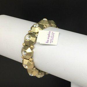 NEW Lia Sophia Clear Rhinestone Stretch Bracelet